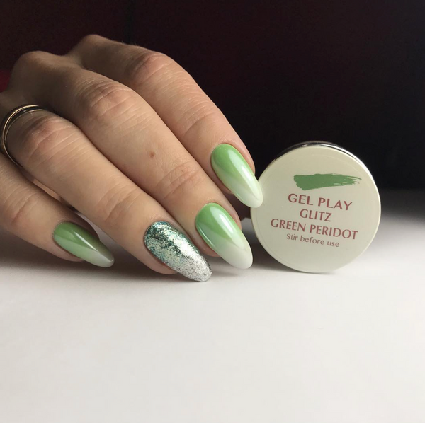 Gel Play Glitz - Green Peridot