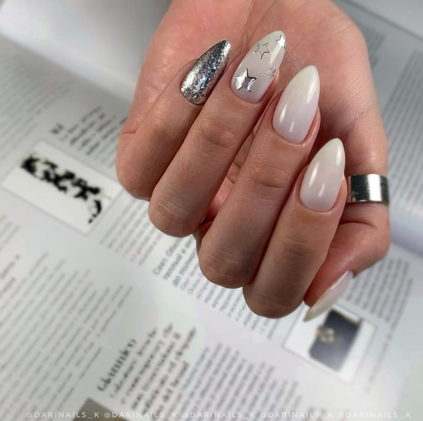 Gel Play Glitz - White Gold