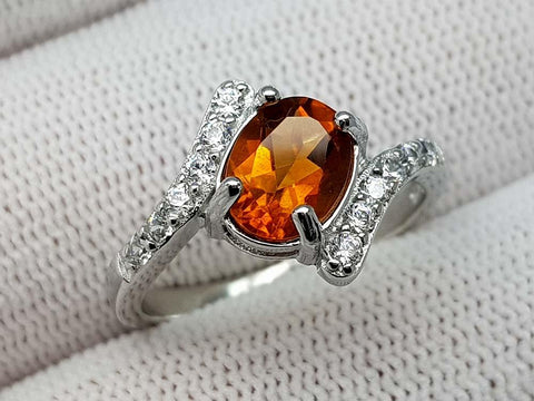 15.89CT MADEIRA CITRINE 925 SILVER RING