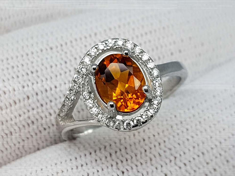 15.79CT MADEIRA CITRINE 925 SILVER RING