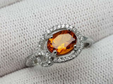 15.55CT MADEIRA CITRINE 925 SILVER RING