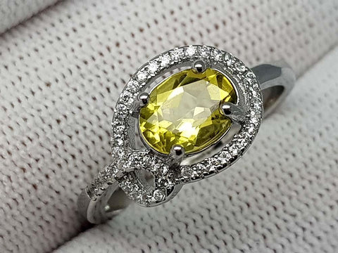 16.45CT LEMON QUARTZ 925  SILVER RING - imaangems17