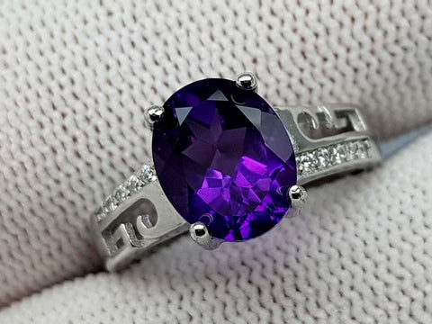 15.85CT AMETHYST 925 SILVER RING