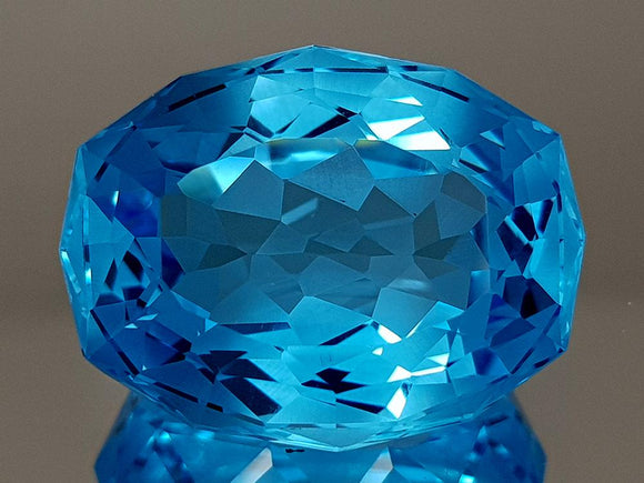 35.87CT NATURAL BLUE TOPAZ PRECISION CUT IGCTPP02 - imaangems17