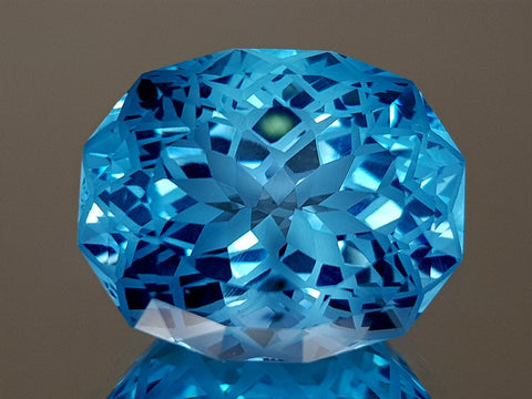 21.26CT NATURAL BLUE TOPAZ PRECISION CUT IGCTPP23 - imaangems17
