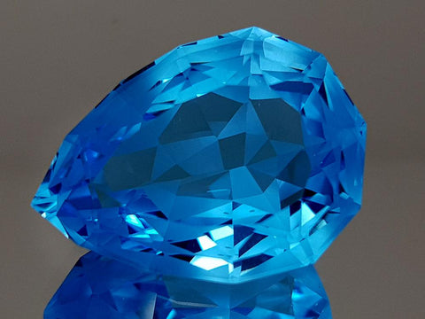 35.94CT NATURAL BLUE TOPAZ PRECISION CUT IGCTPP24 - imaangems17