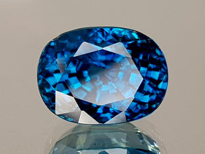 6.65CT NATURAL BLUE ZIRCON BEST GRADE IGCBZS07 - imaangems17