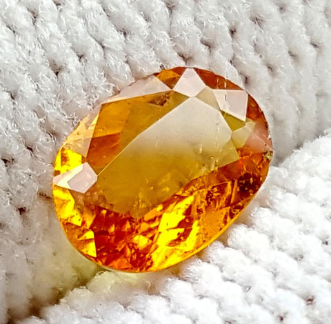 0.5CT ULTRA RARE CLINOHUMITE OF TAJIKISTAN IGCRC59