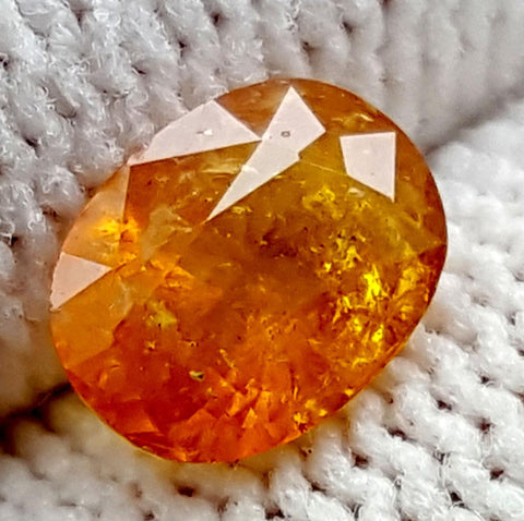 1CT ULTRA RARE CLINOHUMITE OF TAJIKISTAN IGCRC67