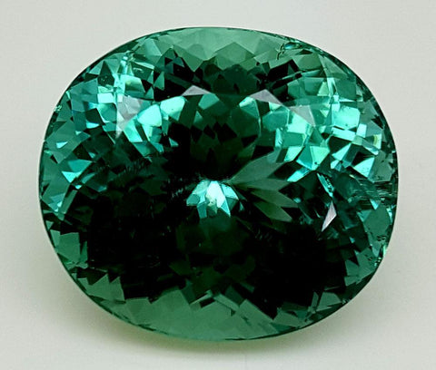24.79CT GREEN SPODUMENE GEMSTONE IGCGP06