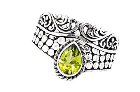 21CT PERIDOT 925 SILVER HAND MADE RING  IGCJE13