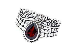 21CT GARNET  925 SILVER HAND MADE RING  IGCJE14 - imaangems17