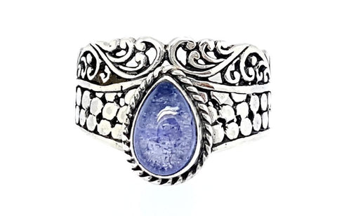 21CT TANZANITE 925 SILVER HAND MADE RING  IGCJE18