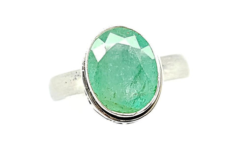 25CT EMERALD 925 SILVER HAND MADE RING  IGCJE38
