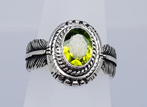 19CT PERIDOT 925 SILVER HAND MADE RING  IGCJE04