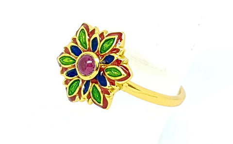 14CT RUBELLITE  925 SILVER HAND MADE RING GOLD PLATED IGCJE58 - imaangems17