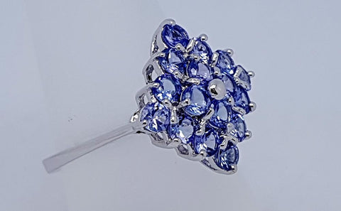 13 CT TANZANITE 925 SILVER HAND MADE RING IGCJE70 - imaangems17