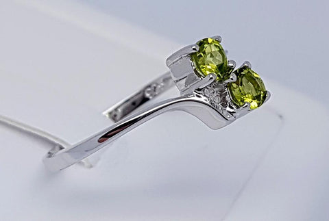 10 CT PERIDOT 925 SILVER HAND MADE RING IGCJE78 - imaangems17