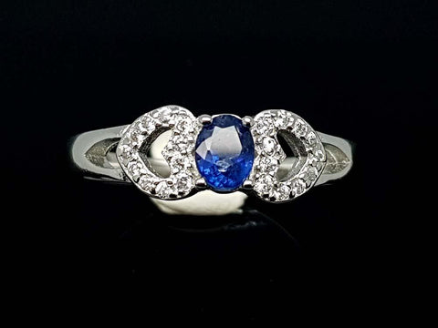 15.85CT NATURAL SAPPHIRE 925 SILVER RING IGCSR01