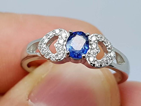 15.85CT NATURAL SAPPHIRE 925 SILVER RING IGCSR20