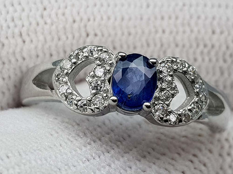 15.85CT NATURAL SAPPHIRE 925 SILVER RING IGCSR24 - imaangems17
