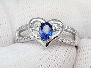 15CT NATURAL SAPPHIRE 925 SILVER RING IGCSRR01 - imaangems17