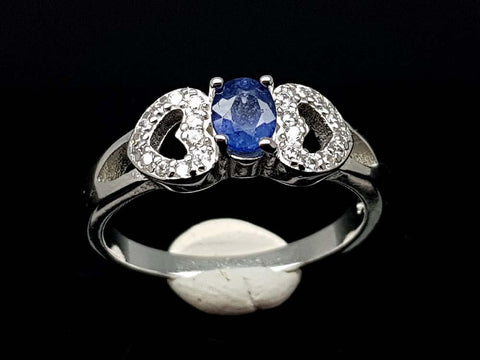 15.85CT NATURAL SAPPHIRE 925 SILVER RING IGCSR02