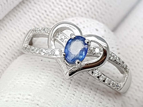 15CT NATURAL SAPPHIRE 925 SILVER RING IGCSRR10 - imaangems17