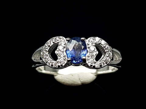 15.85CT NATURAL SAPPHIRE 925 SILVER RING IGCSR03
