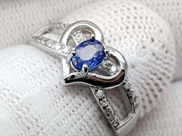 15CT NATURAL SAPPHIRE 925 SILVER RING IGCSRR20 - imaangems17