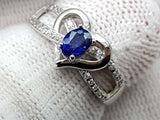 15CT NATURAL SAPPHIRE 925 SILVER RING IGCSRR21 - imaangems17