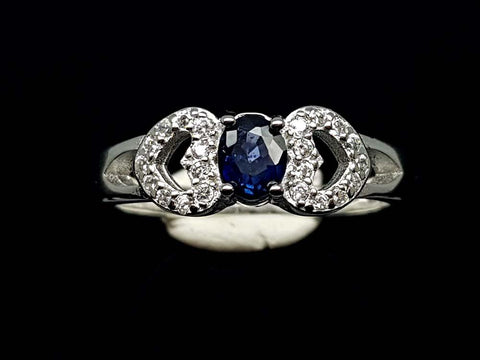 15.85CT NATURAL SAPPHIRE 925 SILVER RING IGCSR04