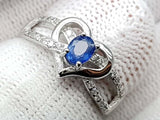 15CT NATURAL SAPPHIRE 925 SILVER RING IGCSRR25