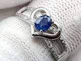 15CT NATURAL SAPPHIRE 925 SILVER RING IGCSRR29 - imaangems17