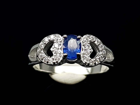 15.85CT NATURAL SAPPHIRE 925 SILVER RING IGCSR05