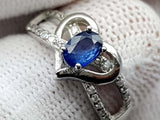 15CT NATURAL SAPPHIRE 925 SILVER RING IGCSRR39 - imaangems17
