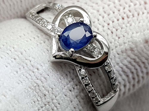 15CT NATURAL SAPPHIRE 925 SILVER RING IGCSRR40 - imaangems17