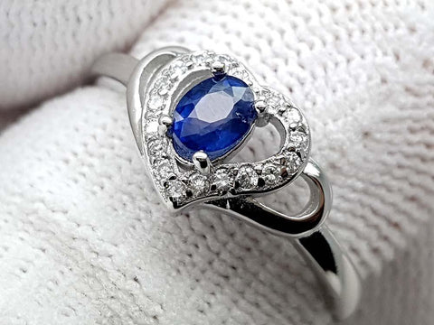 15.25CT NATURAL SAPPHIRE 925 SILVER RING IGCSPR02 - imaangems17