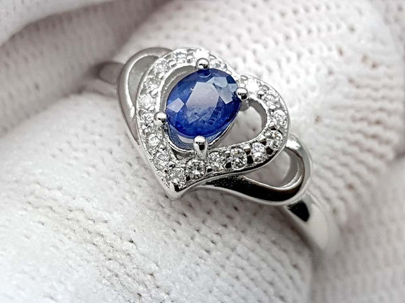 15.25CT NATURAL SAPPHIRE 925 SILVER RING IGCSPR04 - imaangems17