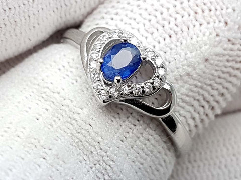 15.25CT NATURAL SAPPHIRE 925 SILVER RING IGCSPR08 - imaangems17