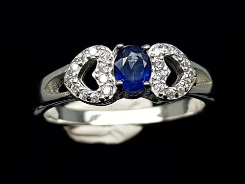 15.85CT NATURAL SAPPHIRE 925 SILVER RING IGCSR07