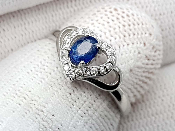 15.25CT NATURAL SAPPHIRE 925 SILVER RING IGCSPR12 - imaangems17