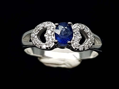 15.85CT NATURAL SAPPHIRE 925 SILVER RING IGCSR08