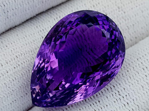 37Ct Natural Amethyst Gemstones IGCam100