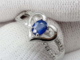 15CT NATURAL SAPPHIRE 925 SILVER RING IGCSRR14 - imaangems17