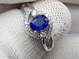 16CT NATURAL SAPPHIRE 925 SILVER RING IGCSPRR05 - imaangems17
