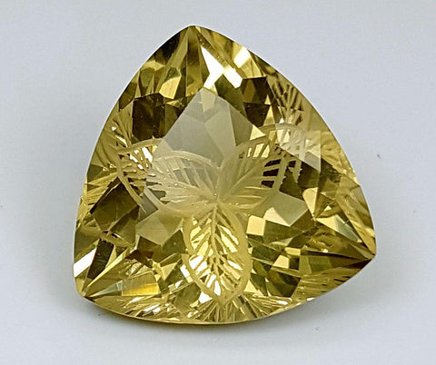 13.75CT LEMON QUARTZ CONCAVE CUT IGCCV10