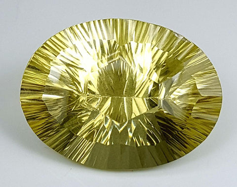 33CT LEMON QUARTZ CONCAVE CUT IGCCV02