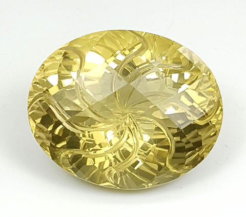 19.95CT LEMON QUARTZ CONCAVE CUT IGCCV05 - imaangems17