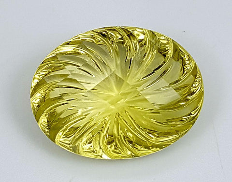 17.45CT LEMON QUARTZ CONCAVE CUT IGCCV08